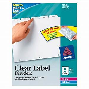 avery index maker clear label divider 5 x tab blank 25 With avery 5 tab labels