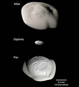 NASA compares images of Saturn's 3 small ring moons taken ...