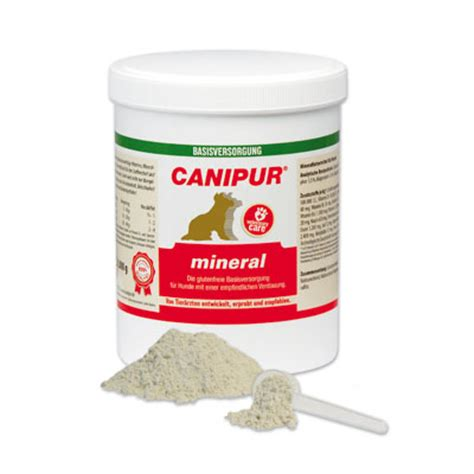 canipur mineral fuer hunde mineralstoffe vitamine