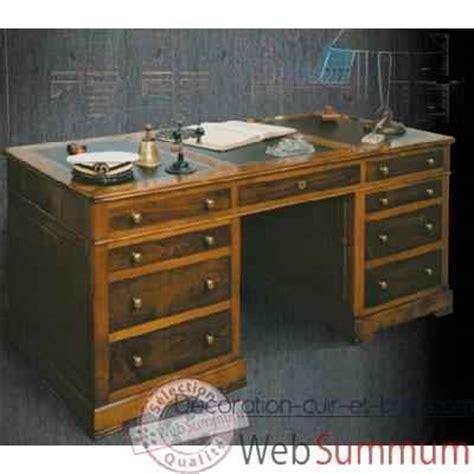 bureau ancien dessus cuir bureau amiral dessus cuir époque 19ème avec caisson 3