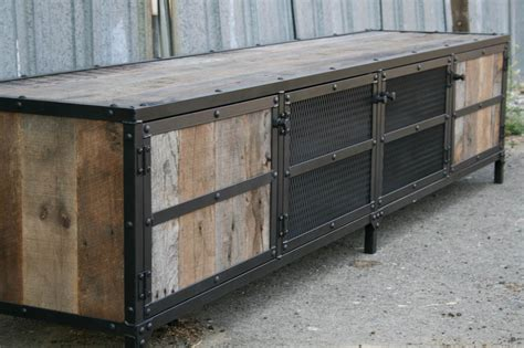 vintage media stand combine 9 industrial furniture industrial rustic credenza 3246