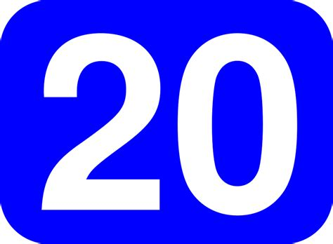 Twenty Number 20 · Free Vector Graphic On Pixabay