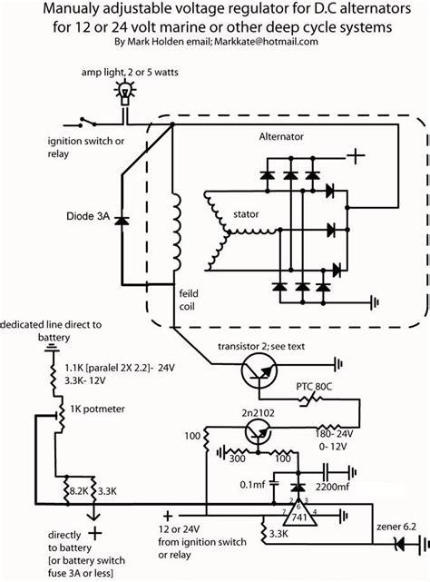 Self Build Adjustable Alternator Controler Electronics