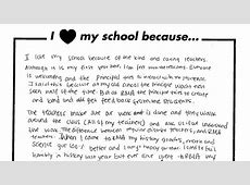 I Love My School Because Richard Milburn Academy Schools