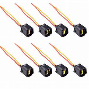 8pcs Ignition Coil Connector Modular Set For 1991