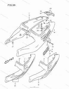 Suzuki Motorcycle 1999 Oem Parts Diagram For Frame Cover  Model T