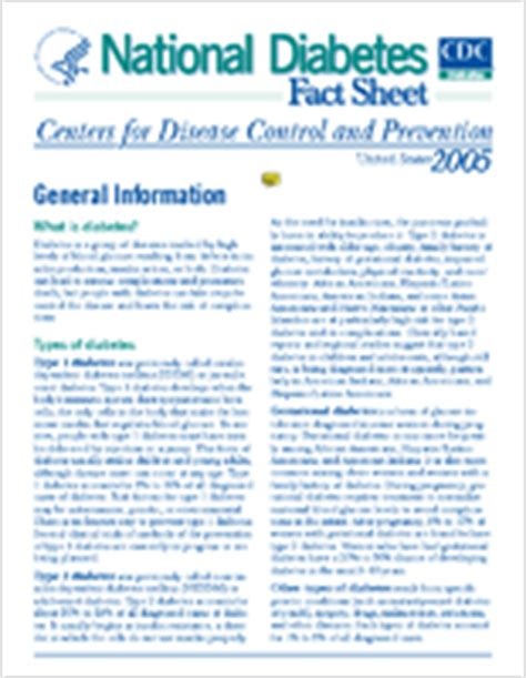 cdc stacks national diabetes fact sheet 7054 library collection