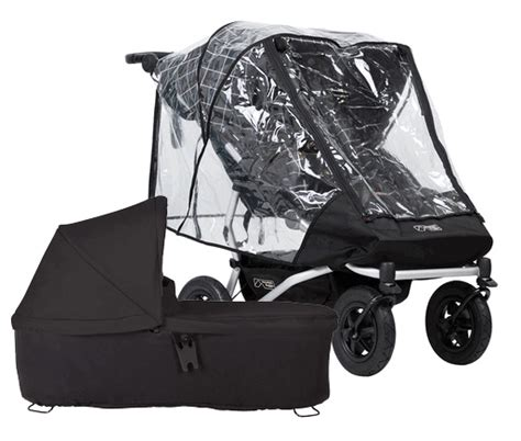 mountain buggy duet  carrycot  black storm cover