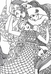 Coloriage Anti Stress Gustav Klimt La Vierge 5