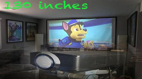 130 inch Projector Set up for under $200 00 YouTube