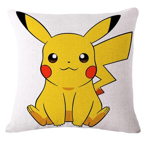 cute funny pokemon cotton linen pillow case sofa seat car