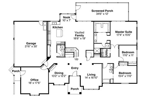 House Floor Plans by Style House Plans Santa 11 033