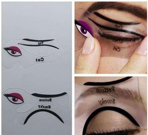 eyeliner template 2pcs lot cat eyeliner stencil smokey eye stencil makeup eyeliner stencils makeup tools free