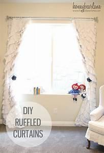 How to Make Ruffled Curtains - Honeybear Lane