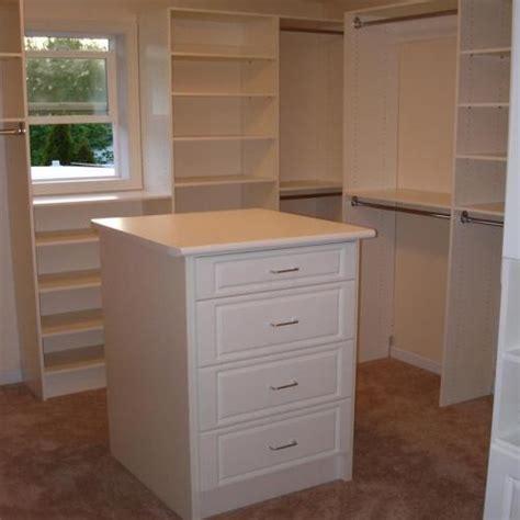 walk in closet island dresser new home