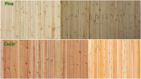 difference  pressure treated pine fences
