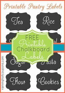 Free Chalkboard Jar Label Printables   Super Cute