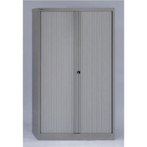 bisley tambour cupboard steel side opening grey ast651w