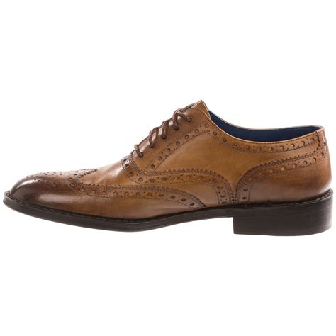 peter millar burnished wingtip shoes  men