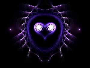 purple digital heart art   Hearts of fire   Pinterest
