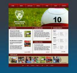 design templates myclubmate web design for sports clubs