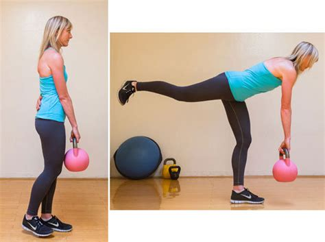 kettlebell deadlift leg single exercises butt raise hamstring lift weight both fitness workout bum glutes exercise straight lifts forward works