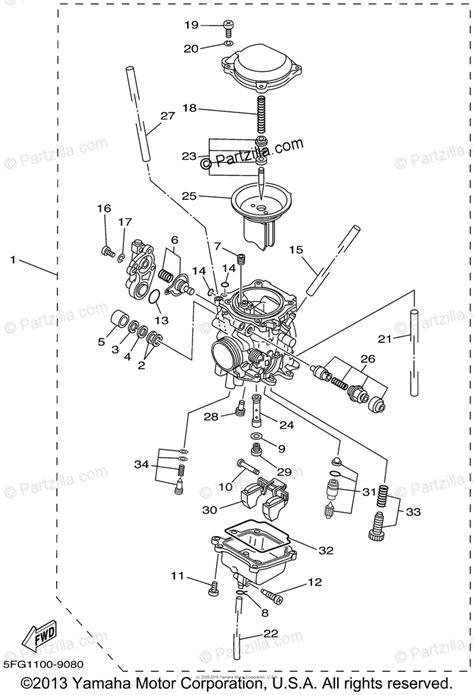 yamaha motorcycle 2002 oem parts diagram for carburetor partzilla com