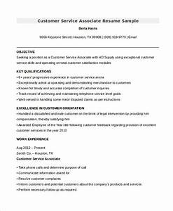11 customer service resume templates pdf doc free for Customer service associate resume