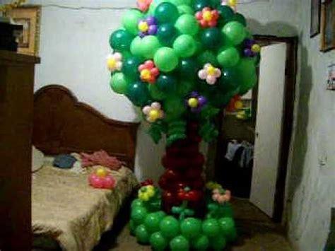 arbol de globos youtube