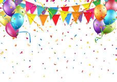 party streamers  confetti stock image image