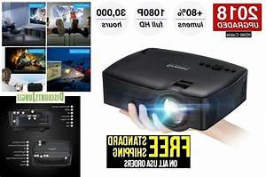 Projector 2018 Upgraded Video Projector 1080p Supported