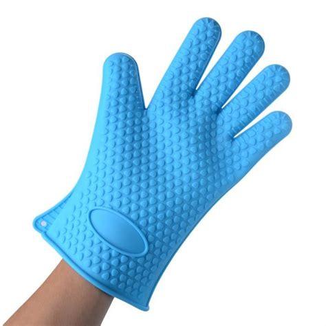 gants anti chaleur cuisine gant de cuisine silicone anti chaleur bleu achat vente gants de cuisine cdiscount