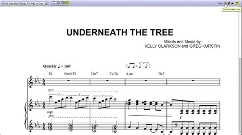 quot underneath the tree quot by clarkson piano sheet music teaser youtube