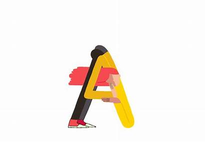 Animated Photoshop Animation Letters Clipart Typography Gifs