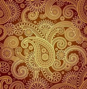 paisley designs | Gold Paisley Pattern Vector | paisley ...