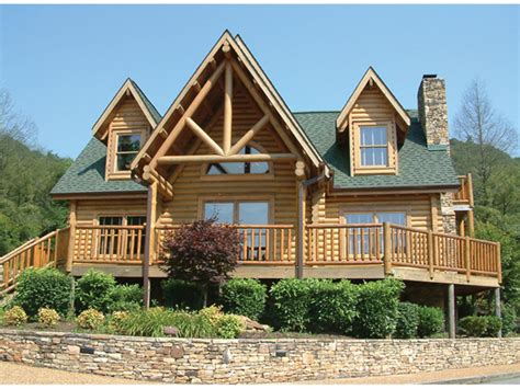 campbell creek log home plan   house plans