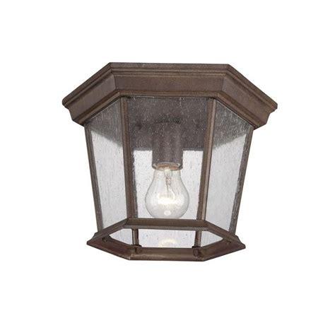 outdoor flush mount ceiling light fixtures acclaim lighting 5275bw sd burled walnut dover 1 light