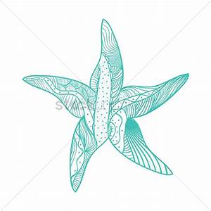 Decorative starfish design Vector Image - 1563972 ...