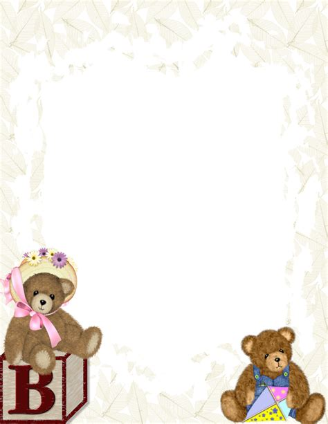 baby template baby themed free stationery template downloads