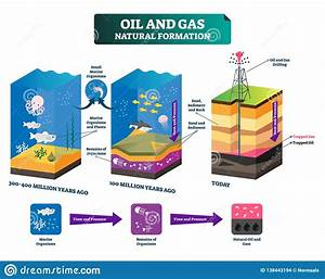 Oil And Gas Natural Formation Labeled Vector Illustration