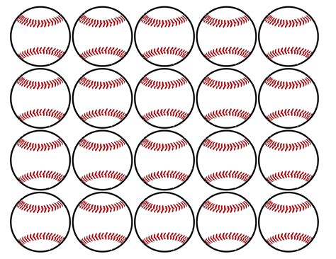baseball template baseball cupcake toppers free printable paper trail design