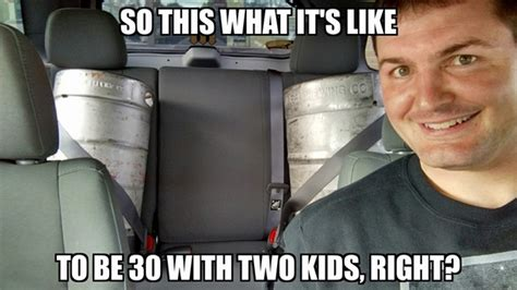 Meme Girl Car Seat - for all my boys with two car seats in the back ill drink one for you meme guy