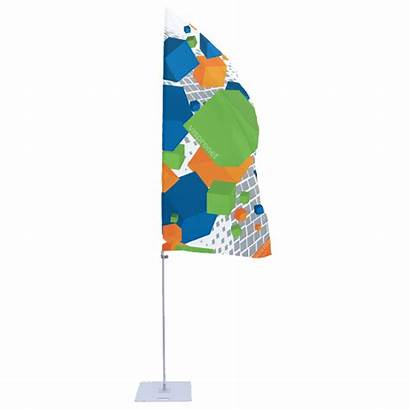 Banner Flagpole Portable Arm Transparent Flag Without