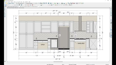 5 Creating A Kitchen Floor Plan And The Second Wall