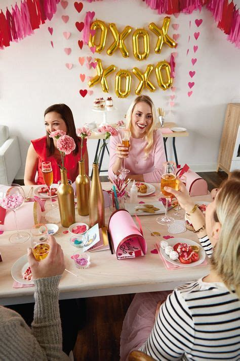 How to Throw an Epic Galentine's Day Brunch for Your Gal Pals | Girls night party, Valentines brunch, Valentines party