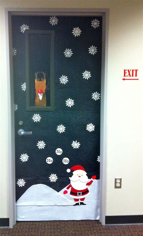 christmas office door decoration decor pinterest