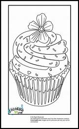 Coloring Cupcake Pages Sprinkles Cupcakes Template Sheets Cute Colouring Printable Flower Hard Books Cartoon Food Detailed Violet Purple Getcoloringpages Para sketch template