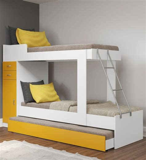Buy Bunk Beds by Buy Mchannah Storage Bunk Bed With Trundle In Yellow