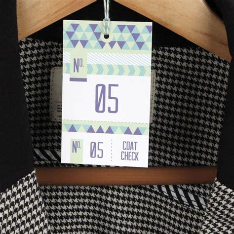 Triangular Coat Check Printable By Basic Invite