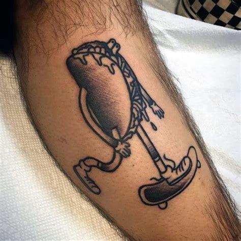 tattoo taco designs skateboard mexican food leg riding mens ink tweet pride